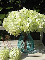 Недорогие -Искусственные Цветы 1 Филиал Односпальный комплект (Ш 150 x Д 200 см) Свадебные цветы Modern Гортензии Букеты на стол