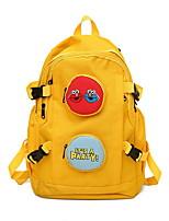 Недорогие -Большая вместимость холст Молнии рюкзак Повседневные Черный / Желтый
