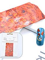 Недорогие -1 шт. / Упак. Diy градиент русалка хлопья ногтей фольги приморский ушка оболочки ногтей наклейки наклейки клей украшения ногтей