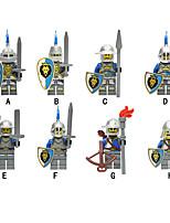 Недорогие -Конструкторы 8 pcs Воин Замок совместимый Legoing Простой броня Ручная работа Все Игрушки Подарок