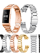 cheap -For Fitbit Charge 3 / Fitbit Charge 4 Band Stainless Steel Watch Band For Fitbit Charge 3 / 4 Watch Strap Metal WatchBand Strap Wrist Watches Bracelet