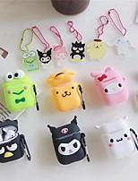 Недорогие -сумка для наушников для аэродромов силиконовая резина румяна розовый / белый / черный 1 шт