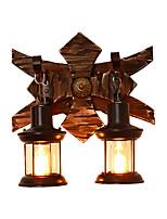 Недорогие -настенный бра в деревенском стиле деревянный настенный светильник ретро / деревенский / домик скрытый настенный светильник магазины / кафе / кабинет / офис / бар