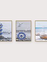 Недорогие -Отпечаток в раме Набор в раме - Пейзаж Морская тематика Полистирен Иллюстрации Предметы искусства