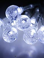 Недорогие -3M Гибкие светодиодные ленты / Интеллектуальные огни 20 светодиоды Тёплый белый / Холодный белый Творчество / Декоративная / Новогоднее украшение для свадьбы Аккумуляторы 1шт