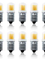 Недорогие -LOENDE 10 шт. 4 W LED лампы типа Корн 300 lm E14 1 Светодиодные бусины COB Тёплый белый Белый 110-130 V 200-240 V