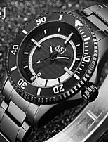 Недорогие -ASJ Муж. Нарядные часы Кварцевый Формальный Нержавеющая сталь Черный 30 m Календарь Аналоговый Новое поступление Мода - Черный Красный Один год Срок службы батареи