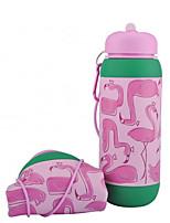 Недорогие -Бутылка для воды Складная бутылка для воды Силиконовые Портативные Складной для На открытом воздухе Путешествия Розовый + зеленый