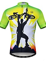 Недорогие -WEIMOSTAR Муж. С короткими рукавами Велокофты Зеленый Велоспорт Спортивный костюм Джерси Верхняя часть Дышащий Виды спорта Полиэстер Эластан Терилен Горные велосипеды Шоссейные велосипеды Одежда