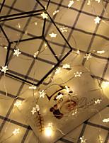 Недорогие -2м Гирлянды 20 светодиоды Тёплый белый Декоративная 5 V 1 комплект