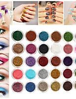 Недорогие -30 цветов про макияж блеск порошок пигмент минеральная блестка тени для век ногтей случайный цвет