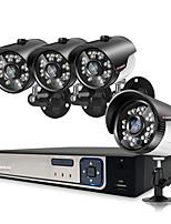 Недорогие -4-х канальная система видеонаблюдения h.265 4k nvr 4-мегапиксельная система видеонаблюдения 4x bullet 2-мегапиксельная камера наружного применения водонепроницаемая IP-камера Ultrahd 1080p