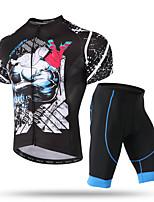 Недорогие -XINTOWN Муж. С короткими рукавами Велокофты и велошорты Черный / синий Велоспорт Дышащий Виды спорта Эластан Однотонный Горные велосипеды Шоссейные велосипеды Одежда / Эластичная