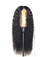 Недорогие -Парики из искусственных волос Афро Квинки Стиль Стрижка каскад Без шапочки-основы Парик Черный Черный Искусственные волосы 58~62 дюймовый Жен. Новое поступление Черный Парик Очень длинный