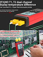 Недорогие -Термометр Uni-T Термопара UT320A Тип мини-контакта Двухканальный K / J измеритель температуры Подсветка данных отключить авто