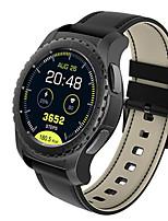 Недорогие -Муж. Смарт Часы Цифровой Современный Спортивные Натуральная кожа 30 m Защита от влаги Пульсомер Bluetooth Цифровой На каждый день На открытом воздухе - Черный Серебряный