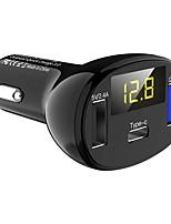 Недорогие -Автомобильное зарядное устройство c02 Автомобильное зарядное устройство для телефона Тип-C быстрое зарядное устройство qc3.0 Dual USB-порты DC5V 2.4A 12V 24V прикуриватель питания