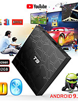 Недорогие -T9 TV Box Android 8.1 Wi-Fi 4 ГБ 32 ГБ TV Box Bluetooth 4.0 RK3328 четырехъядерный Smart TV Box Set Top Android 8.1 Box