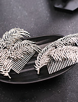 cheap -Women's Hair Combs Hair Jewelry For Wedding Engagement Party Wedding Geometrical Crystal Alloy Silver 1pc