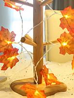 Недорогие -3 м кленовые листья гирлянды 20 светодиодов теплый белый день благодарения Хэллоуин декоративные 5 v 1 комплект
