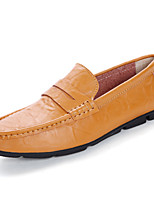 cheap -Men's Moccasin Rubber Spring & Summer Casual / British Loafers & Slip-Ons Walking Shoes Breathable Black / Brown / Yellow