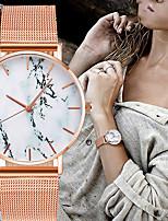 Недорогие -Жен. Мрамор Кварцевые Мода Цветной Черный Серебристый металл Золотистый Нержавеющая сталь Китайский Кварцевый Черный Серебряный Розовое Золото Защита от влаги Повседневные часы Cool 30 m 1 ед.
