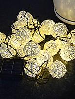 Недорогие -5 м ротанга шар строки огни 20 светодиодов теплая белая свадьба рождественская вечеринка декоративные солнечной энергии 1 компл.