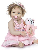 cheap -NPKCOLLECTION Reborn Doll Baby Baby Girl 24 inch Full Body Silicone Vinyl - lifelike Gift Artificial Implantation Blue Eyes Kid's Girls' Toy Gift