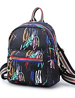 Недорогие -Большая вместимость Полиэстер Молнии рюкзак Повседневные Синий / Белый / Черный