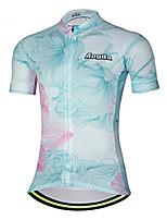 Недорогие -21Grams Цветочные ботанический Жен. С короткими рукавами Велокофты - титан Велоспорт Джерси Верхняя часть Дышащий Влагоотводящие Быстровысыхающий Виды спорта Терилен Горные велосипеды Одежда
