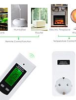 Недорогие -floureon ts-808 eu / au / us беспроводная радиочастотная вставка в жк-пульт дистанционного термостата для термометра температуры помещения и охлаждения помещения в доме 20 м