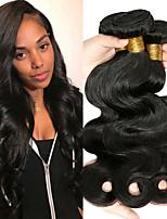 Недорогие -4 Связки Бразильские волосы Естественные кудри Не подвергавшиеся окрашиванию 100% Remy Hair Weave Bundles Головные уборы Человека ткет Волосы Удлинитель 8-28 дюймовый Естественный цвет / Без запаха