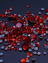 Недорогие -100 шт. / Упак. Микс размер 3d алмаз ногтей украшения поделки стеклянные стразы для ногтей поставки