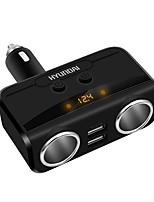 Недорогие -Универсальный 2 способа автомобильного прикуривателя разъем питания сплиттер адаптер постоянного тока 12 В 2.1a1a Dual USB зарядное устройство