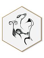 Недорогие -Отпечаток в раме Холст в раме С принтом - Абстракция Полистирен Иллюстрации Предметы искусства