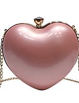 Недорогие -Жен. Цепочки PU Сумочка через плечо Сплошной цвет Черный / Розовый / Миндальный