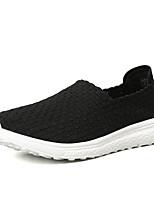 Недорогие -Муж. Комфортная обувь Полиуретан / Эластичная ткань Лето Мокасины и Свитер Нескользкий Черный / Синий / Серый