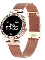 Недорогие -x10 умные часы 0.66-дюймовый водонепроницаемый умный браслет bt4.0 мониторинг сердечного ритма умный таймер фитнес женские наручные часы