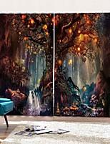 Недорогие -Роскошные уф-печать пейзаж ткани шторы утолщенные полные шторы для гостиной водонепроницаемый влагостойкий полиэстер занавески для душа