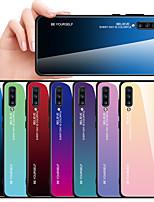 Недорогие -Кейс для Назначение SSamsung Galaxy Galaxy A7(2018) / A5 (2017) / A7 (2017) Защита от удара Кейс на заднюю панель Градиент цвета Твердый Закаленное стекло