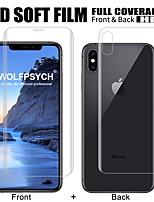 Недорогие -передняя и задняя мягкая пленка для iphone 6 6s 7 8 плюс защитная пленка для полного экрана для x xs max xr силиконовая гидрогелевая наклейка