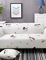 cheap -Cartoon Forest Print Dustproof All-powerful Slipcovers Stretch Sofa Cover Super Soft Fabric Couch Cover with One Free Pillow Case