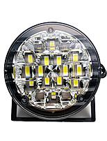 Недорогие -2шт 12v 18led drl круглый автомобиль противотуманные фары вождения дневного света ярко-белый