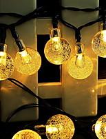 Недорогие -6,8 млн Гирлянды 30 светодиоды Тёплый белый Работает от солнечной энергии / Декоративная Солнечная энергия 1 комплект