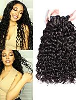 Недорогие -6 Связок Перуанские волосы Волнистые Необработанные натуральные волосы 100% Remy Hair Weave Bundles Человека ткет Волосы Пучок волос Накладки из натуральных волос 8-28 дюймовый Естественный цвет