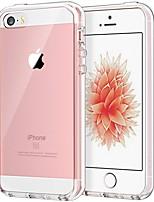 Недорогие -Кейс для Назначение Apple iPhone SE / 5s / iPhone 5 Защита от удара / Защита от пыли / Прозрачный Кейс на заднюю панель Прозрачный Твердый ТПУ / ПК