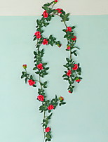 Недорогие -Искусственные Цветы 1 Филиал С креплением на стену Modern Розы Цветы на стену