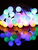Недорогие -7м Гирлянды 50 светодиоды ДИП светодиоды Тёплый белый / Белый / Фиолетовый Для вечеринок / Декоративная / Праздник 2 V 1шт