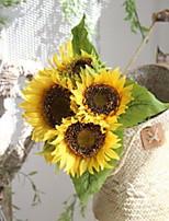 Недорогие -Искусственные Цветы 1 Филиал Классический Сценический реквизит Подсолнухи Букеты на стол