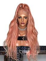 Недорогие -Парики из искусственных волос Естественные кудри Стиль Стрижка каскад Без шапочки-основы Парик Розовый Розовый + Красный Искусственные волосы 65~69 дюймовый Жен. Новое поступление Розовый Парик